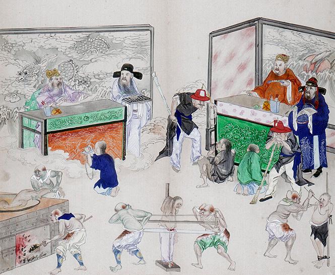 Одна из множества картин с изображением десяти судов Ада
