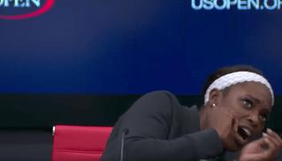 Сказ (и ВИДЕО) про то, как теннисистка из США мухи испугалась и со стула упала
