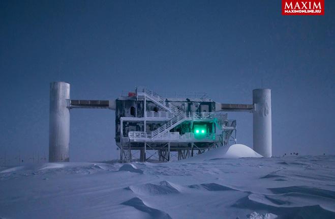 Фото №1 - История одной фотографии: нейтринная обсерватория на Южном полюсе, 2013