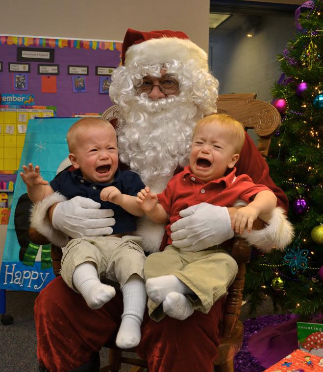 Санта и дети - фото