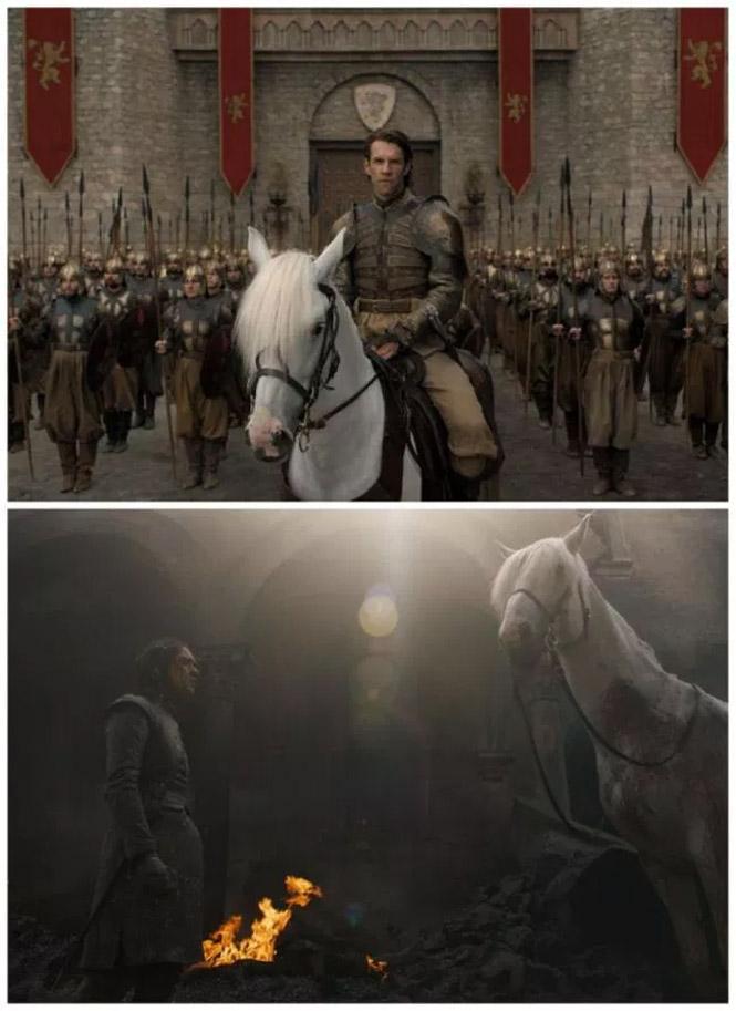 Фото №2 - Вот что значит белая лошадь, которую встретила Арья в финале пятой серии «Игры престолов»