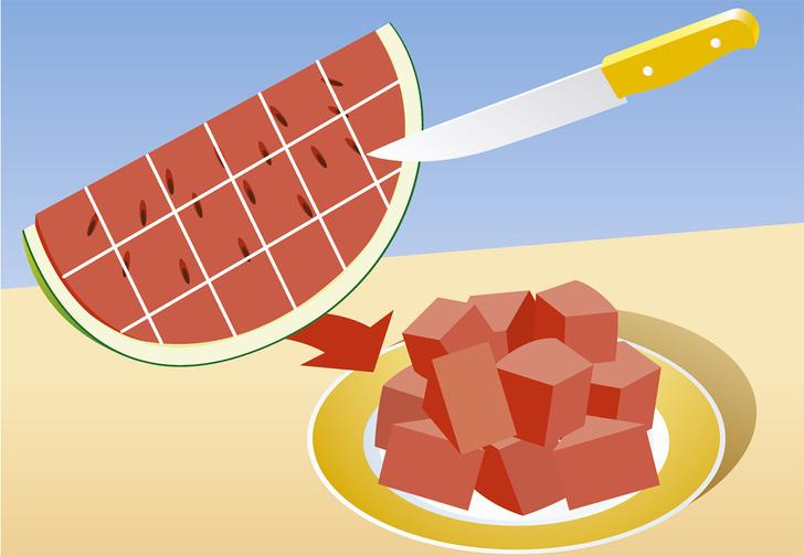 Фото №2 - 8 способов разрезать и съесть арбуз
