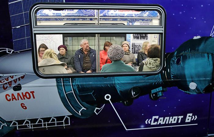В московском метро появился «космический» поезд!