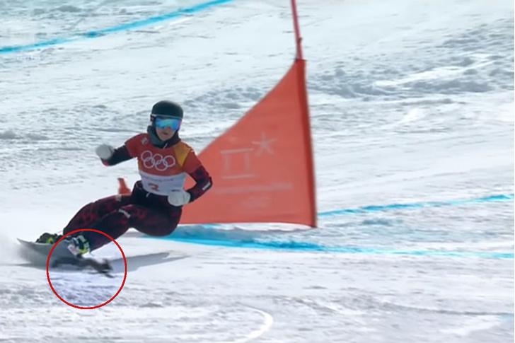Фото №1 - Белка обманула смерть на олимпийской трассе (волнительное ВИДЕО)