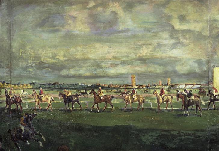 Скачки. 1911 год. Из коллекции Третьяковской галереи