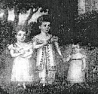 Бертон с младшими братом и сестрой