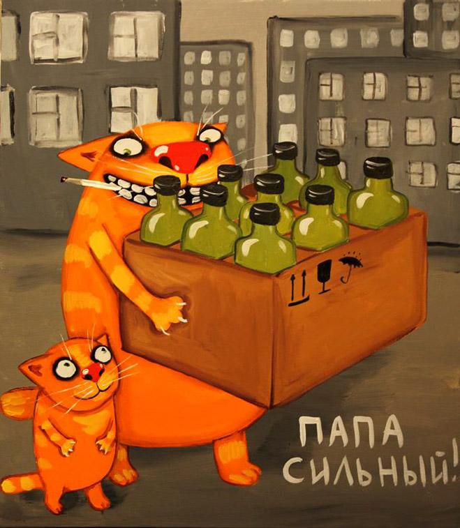 Фото №3 - Ложкин кот! Лучшие картины Васи Ложкина