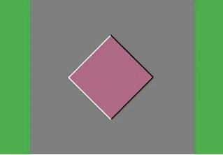 Новая оптическая иллюзия: ромб или движется, или нет