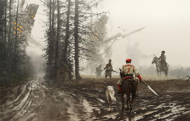 Фото №7 - Зловещая стимпанковская живопись с элементами славянского быта