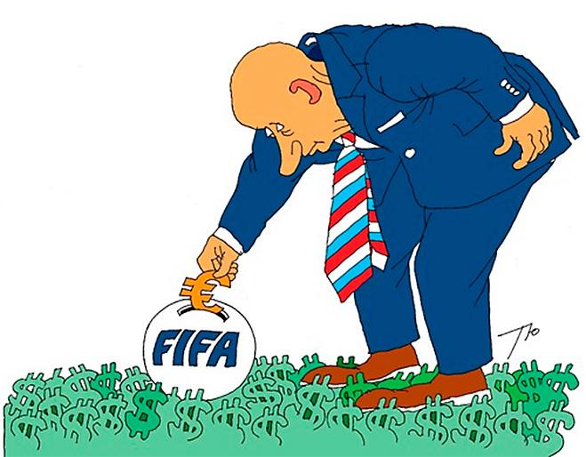 Фото №14 - Пенальти разных широт: коррупция ФИФА глазами иностранных карикатуристов