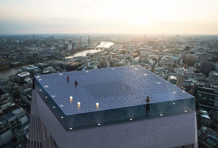 Фото №1 - Интернет озадачен бассейном на крыше, из которого невозможно вылезти