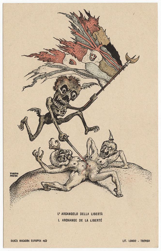 Фото №25 - Жутковатые карикатуры Первой мировой