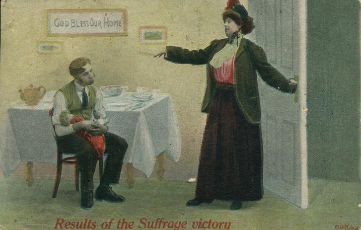 Фото №1 - 20 антифеминистских плакатов прошлого