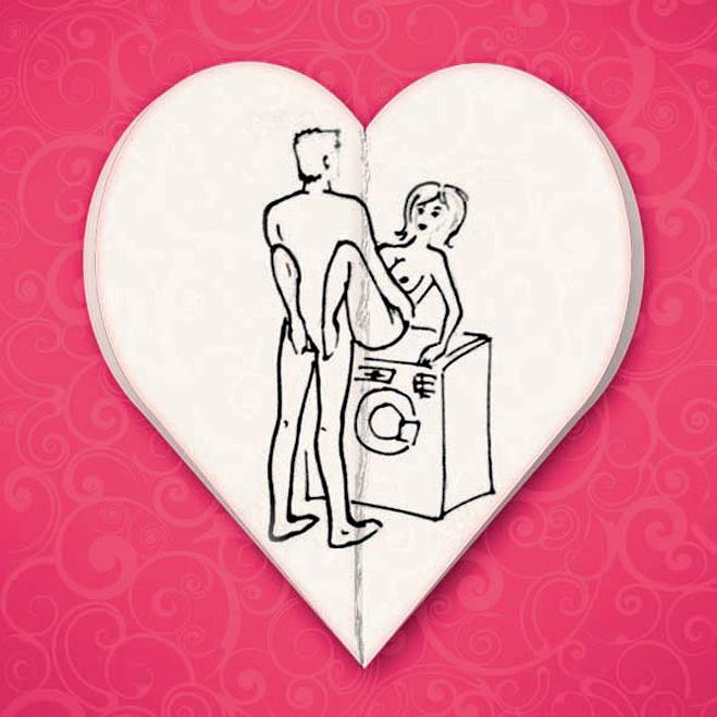 Секс на стиральной машиин