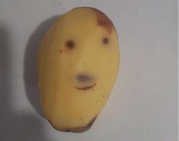 Картофель, похожий на Гитлера