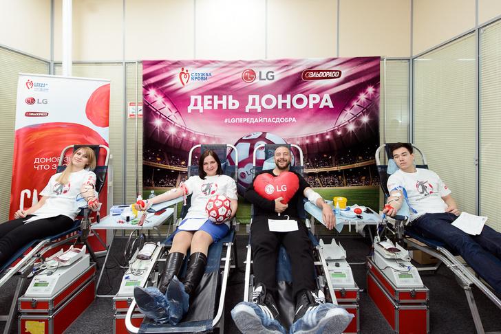 Фото №4 - Известные футболисты приняли участие в футбольном Дне донора LG