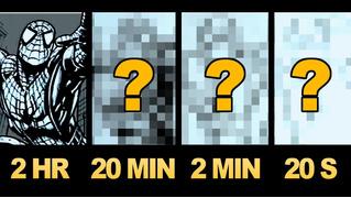 Художник рисует одну и ту же картину за 2 часа, 20 минут, 2 минуты, 20 секунд (видео)
