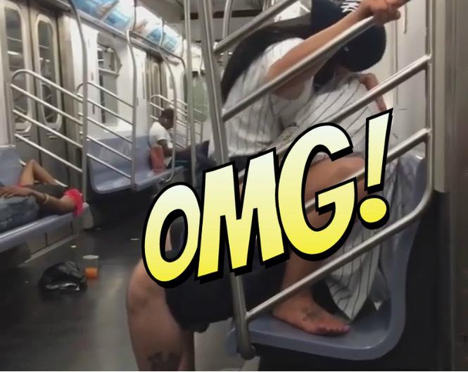 Видео: фанаты занялись сексом в метро после матча