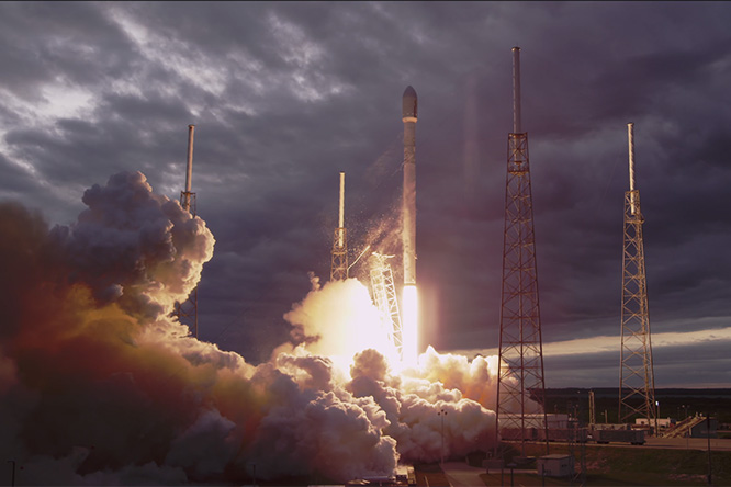 Фото №1 - Запуски ракет Falcon 9 для тех, кто не боится разрешения Ultra HD 4K