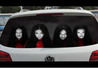 Хоррор-наклейки для автомобилей