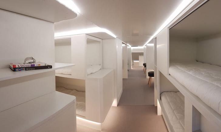 Фото №1 - Спальный салон Airbus, похожий на стерильный плацкарт (ГАЛЕРЕЯ, ВИДЕО)
