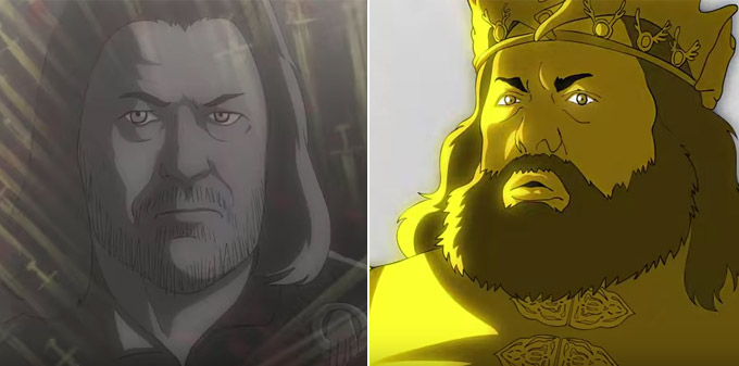 Фото №2 - Неожиданное видео! «Игра престолов» в стиле аниме!