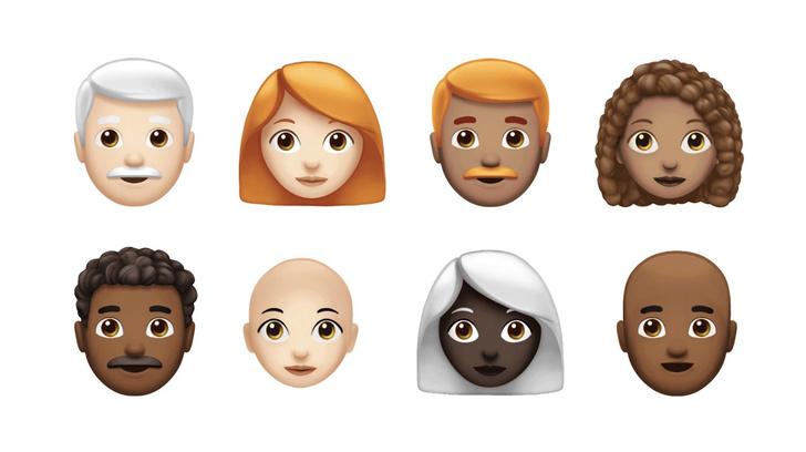 Фото №1 - Apple показала, как будут выглядеть новые эмодзи! Наконец-то у темнокожих с рыжими усами появится аватар!