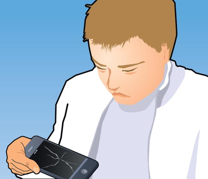Совет без слов: что делать с разбитым айфоном