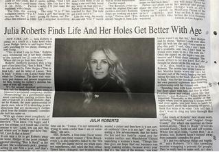 Из-за дикой газетной опечатки Джулия Робертс стала предметом шуток