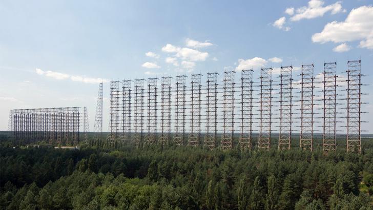 Фото №1 - Вид с воздуха на легендарную чернобыльскую «Дугу», и что это вообще такое