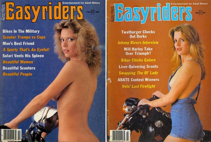 Фото №1 - Сексуальные девушки байкеров из 1980-х!