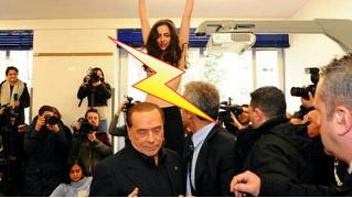 Приходит, значит, Берлускони на выборы — а на него полуголая активистка как выскочит! (Оголтелое ВИДЕО)