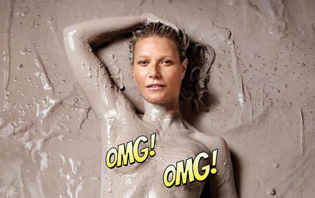 Фото №1 - Голая Гвинет Пэлтроу извалялась в грязи для обложки своего журнала