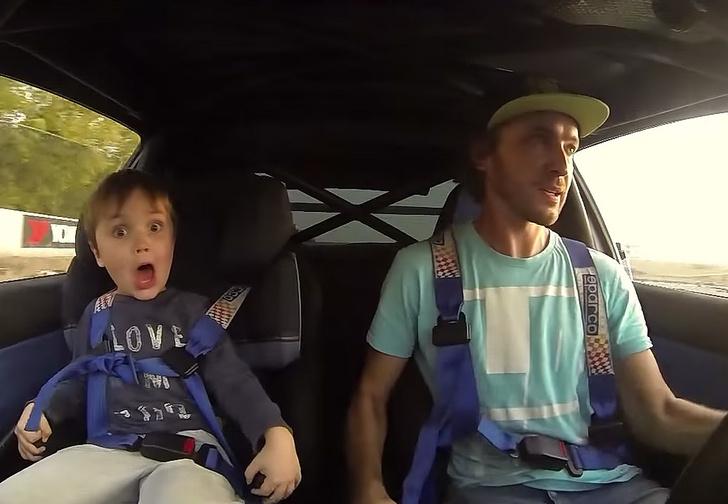 В машине с ребенком