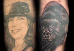10 попыток исправить татуировки с именами и лицами бывших