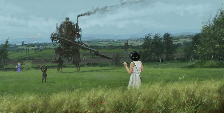 Фото №4 - Зловещая стимпанковская живопись с элементами славянского быта