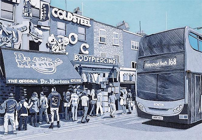 Фото №1 - Иэн Берри — художник, который придумал делать картины из джинсов