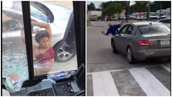 Фото №1 - Идеальный road rage: американка крушит пассажирский автобус домкратом (видео)