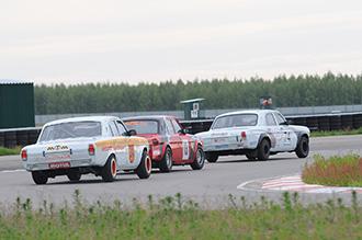 Заезд Gorkyclassic GP на автодроме «Нижегородское кольцо», участвуют «Волги» ГАЗ-24
