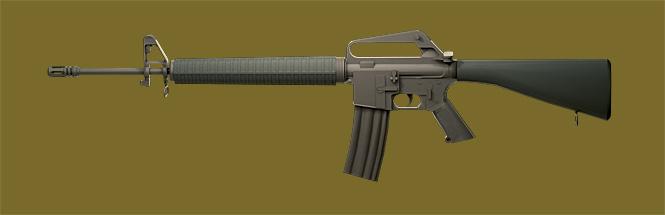 Американская полуавтоматическая винтовка М16