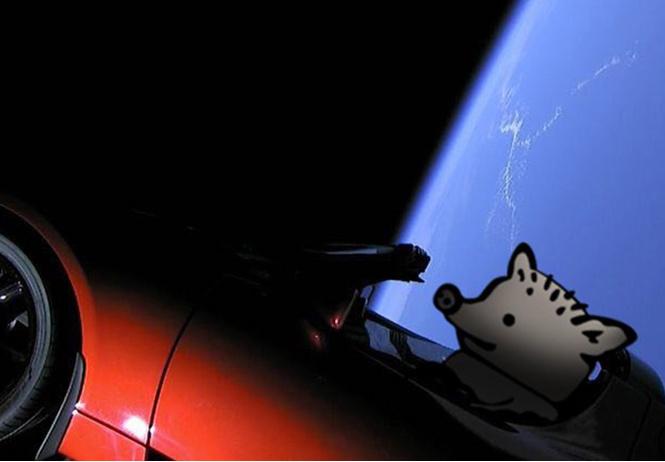 Мемы и шутки о невероятном запуске в космос личного авто Илона Маска