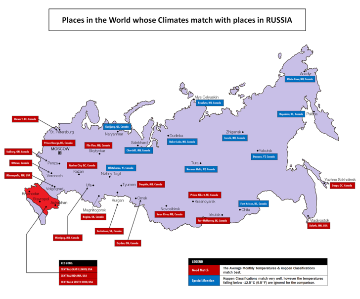 Фото №2 - Карта климатических соответствий США и России