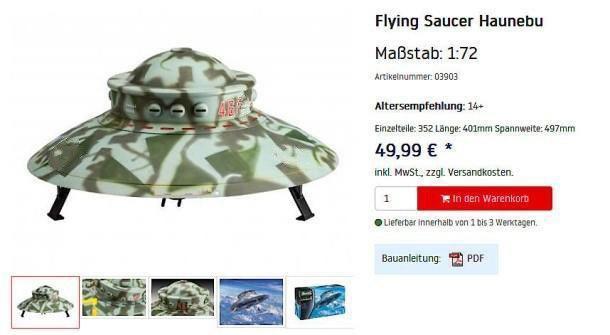Фото №1 - В Германии запретили продавать игрушечное нацистское НЛО
