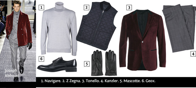 Бархатный пиджак: как и с чем носить