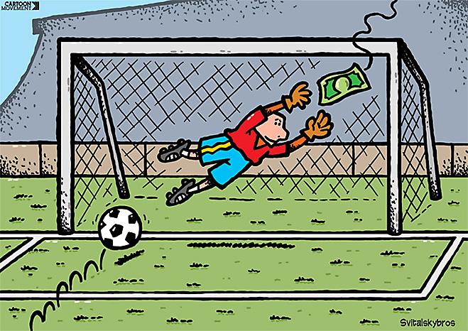 Фото №9 - Пенальти разных широт: коррупция ФИФА глазами иностранных карикатуристов
