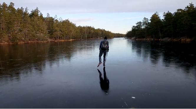 Как звучит супертонкий лед (ВИДЕО для наушников)