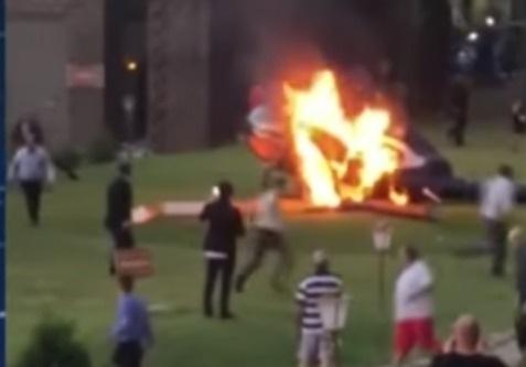 вертолет невестой рухнул загорелся получила царапины день замуж