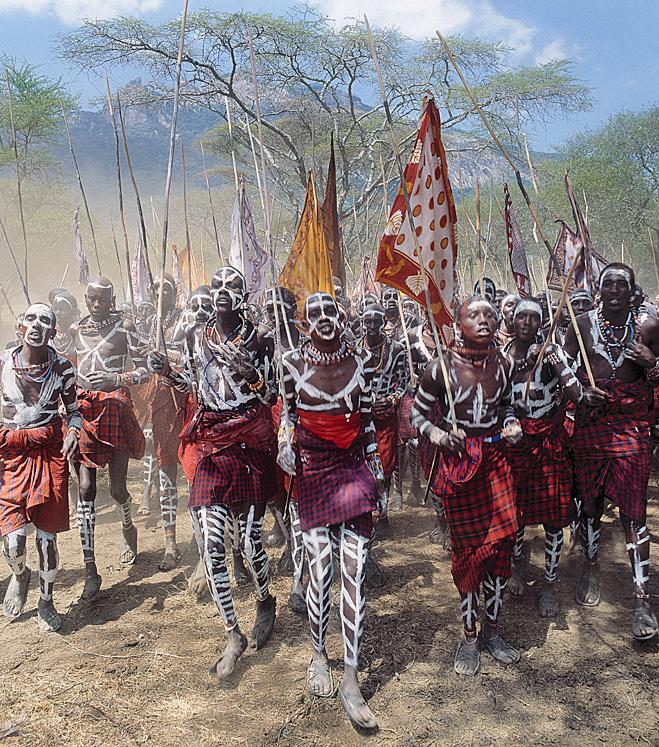 Кенийский боевой ритуал посвящения