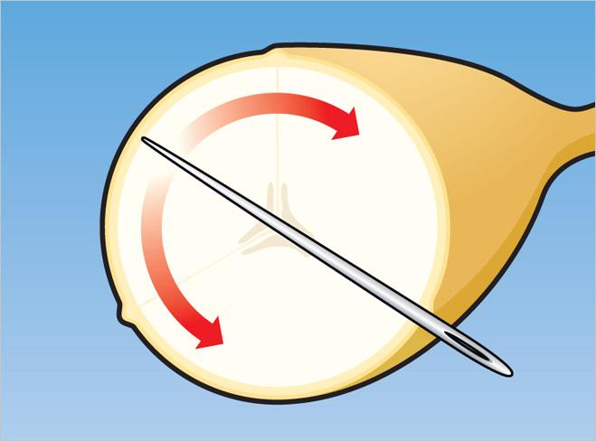 Фото №2 - Легкий фокус: как разрезать банан изнутри
