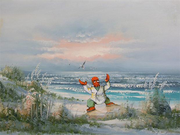 Фото №4 - Художник скупает никому не нужные полотна и делает их веселыми!